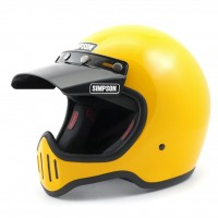 Simpson M50 Helmet with Visor - Yellow