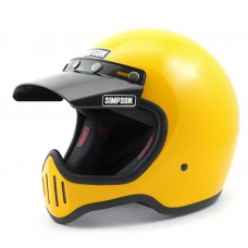 Simpson M50 Helmet with Visor - Yellow