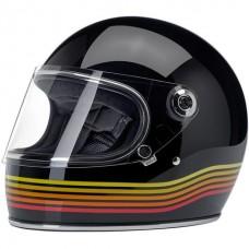 Biltwell Gringo S Helmet - Gloss Black Spectrum ECE