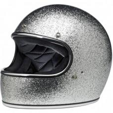 Biltwell Gringo ECE Helmet- Brite Silver Metal Flake