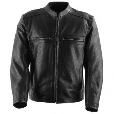 Black Brand Men's Fahrenheit KoolTeK Perforated Leather Jacket